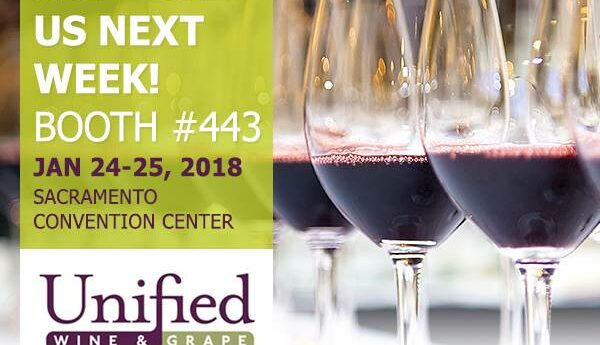 Come see us at the Unified Wine & Grape Symposium